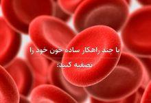 با چند راهکار ساده خون خود را تصفیه کنید   merspharma